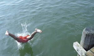 Two feet plunge